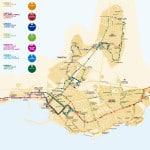 Схема и расписание городских автобусов в Торревьехе