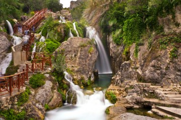 Водопады Альгар и Гуадалест