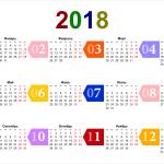 Календарь праздничных, нерабочих дней в Испании, в Торревьехе в 2018 году