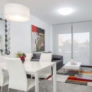 Апартаменты Arenales-8 4-6 в Эльче Аликанте-столовая-гостиная
