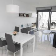 Апартаменты в Ocean View 4-5 Аликанте-столовая-гостиная