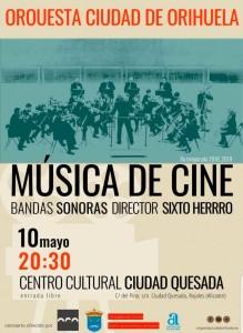 10 мая – концерт музыки из кинофильмов в культурном центре Сьюдад-Кесада